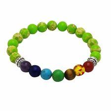 Chakra Bracelet LIGHT GREEN with 7 Gemstones by ZILA COMPANY, Crystals Healing