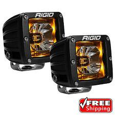 Rigid Radiance 20204 Pod LED Lights PAIR - Amber Illuminated Background Light