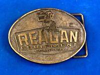 Vintage 1980's Reagan Equipment Company Louisiana Gretna Harvey Belt Buckle