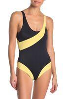 Onia Rachel Colorblock Stripe Scoop Back One-Piece Swimsuit Size M - $195