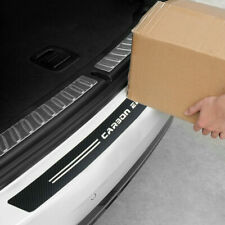 4D Carbon Fiber Rear Trunk Bumper Guard Accessories Moulding Decal Sticker Trim
