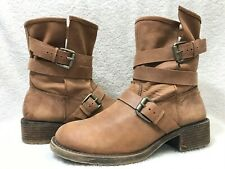 Lucky Brand Dallis Women 9.5 Moto Biker Buckle Boots, 9.5