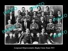 OLD LARGE HISTORIC PHOTO OF LONGREACH QLD, THE TOWN RUGBY UNION TEAM 1915