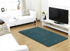 NEW EXTRA LARGE DARK TEAL KINGFISHER BLUE THICK PLAIN SHAGGY MODERN RUG 160x230