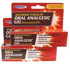 Benzocaine 20% Maximum Strength Oral Analgesic Gel .42 oz Tube Toothache
