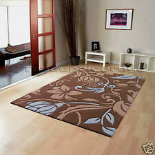 Flair Rugs Infinite Damask Handtufted Rug Brown / Blue W120cm X L170cm