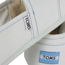 TOMS CLASSIC CANVAS WHITE AUTHENTIC SLIP ON WOMENS US SIZE 5.5