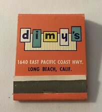 Old Matchbook Dimy's East Pacific Coast Highway Long Beach, CA