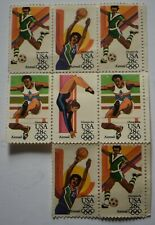 Olympics USA 1984 - Eight mixed stamps on sheet unused
