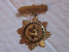 Vintage Trustee Catholic Order of Foresters Pin Medal