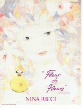 PUBLICITE ADVERTISING 027  1982  Nina Ricci parfum Fleur de Fleurs