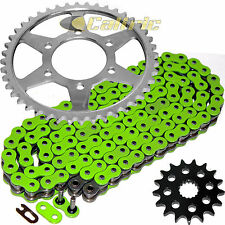 Green O-Ring Drive Chain & Sprockets Fits KAWASAKI ZZR1200 Ninja ZX1200C 02-05