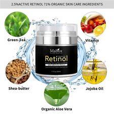 Mabox Retinol 2.5% Moisturizer Face Cream Vitamin E Collagen Retin Anti Aging