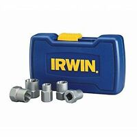 IRWIN HANSON BOLT GRIP Stripped Bolt Extractor Removers Base Set 5 Piece 394001