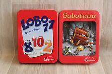 Lot de 2 jeux Gigamic : Lobo 77 & Saboteur - complets