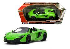 Motor Max 1:24 W/B MCLAREN 650S SPIDER Diecast Car Model Green Color
