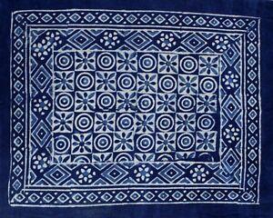 Reversible Floral Pillow Sham Block Print Cotton Geometrical Design 28x24 inches