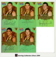 2010 Select AFL Champions Force 5 Signature Gold Card Team Set (5):Hawthorn