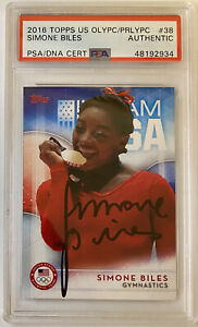 2016 TOPPS OLYMPICS SIMONE BILES TEAM USA ROOKIE CARD SIGNED PSA DNA AUTOGRAPH