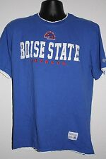 Boise State Broncos blue orange white short sleeve  shirt size Large