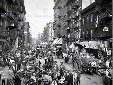 Mulberry Street NEW YORK CITY 1900 VINTAGE OLD BW foto stampa poster art 1401bw