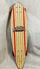 Satellite Skateboards Red White Striped Cruiser 33 Inches