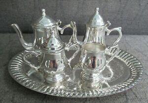 Vintage Sheridan Child's Silver-plate 6 Piece Mini Tea Service