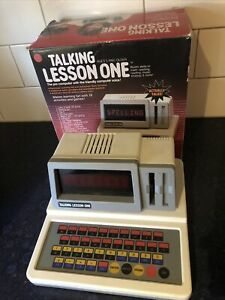 Rare 1986 Edition Talking lesson One Vtech Electronics Computer Table Top Game