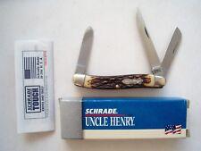 ORIGINAL USA MADE SCHRADE  897UH UNCLE HENRY PREMIUM STOCKMAN KNIFE