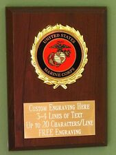 US Marine Corps Award Plaque 4x6 Trophy FREE engraving
