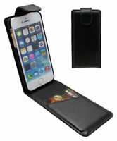 Fits iPhone XS,X,8,7,8&7Plus,SE,5 Vertical Flip Case Genuine Leather Wallet