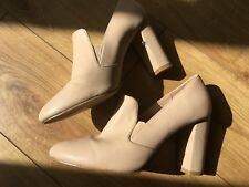 H&M Divided pale pastel pink nude high heel court pointy slip on shoe 38 size 5