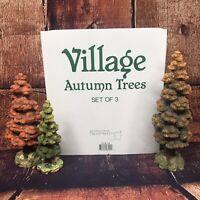 Dept 56 Village Autumn Trees Set of 3 Village Accessories In Original Box Fall
