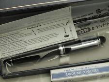 Sailor Fountain Pen Promenade Silver Trim 14k M-nib with converter 11-1033-420
