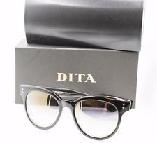 Dita Sunspot A-BLK Black Round Mirrored Cateye Sunglasses 22028 NWT AUTH