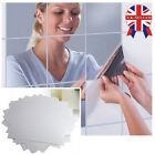 16/32/48pc Mirror Tile Wall Sticker Square Self Adhesive Room Decor Stick On Art