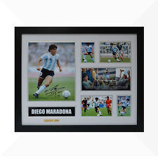 Diego Maradona Signed & Framed Memorabilia - White/Silver - Limited Edition