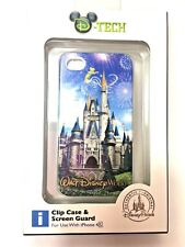 IPHONE 4S CASE DISNEY CINDERELLA CASTLE & TINKERBELL D-TECH  NWT