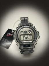 Casio G-Shock DW6900 Clear Skeleton Grey Digital Water Resistant New DW6900SK-1
