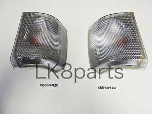 LAND ROVER RANGE P38 FRONT TURN SIGNAL LIGHT LAMP LH RH SET XBD100920 XBD100930