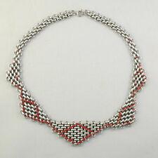 Vintage Art Deco Jakob Bengel chrome necklace ancien collier 1930