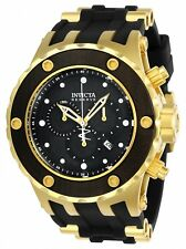 24073 Invicta Specialty Subaqua Quartz Men Chrono Wood Dial Silicone Strap Watch