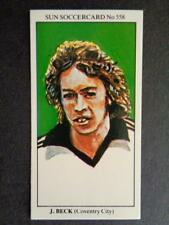 The Sun Soccercards 1978-79 - John Beck - Coventry City #558