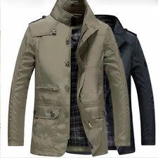 New Men's Jacket Coat Slim Clothes Warm Overcoat Casual Outwear Outdoor Coat