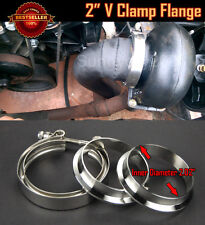 "T304 Stainless Steel V Band Clamp Flange Assembly For Dodge   2"" OD Exhaust Pipe"