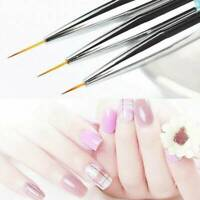 5-15mm DIY Double-end Nail Liner Painting Brush Drawing Pen Manicure Art Tool AU