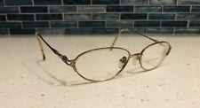 LAURA ASHLEY Rx Eyeglasses Marcella Shell Metal Oval Gold Frames 51-15-130