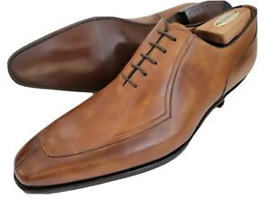 New Carlos Santos Mismatched Brown Custom Oxfords Shoes Mens Left 11.5 Right 12