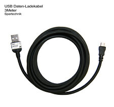 3 Meter USB Daten Ladekabel Garmin nüvi 3790T 3760T 2350LT 2340 2360LT 3490 3790