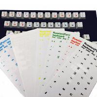 Russische transparente Aufkleber Wasserdicht für PC Laptop Tablette-Tastatu N6B2